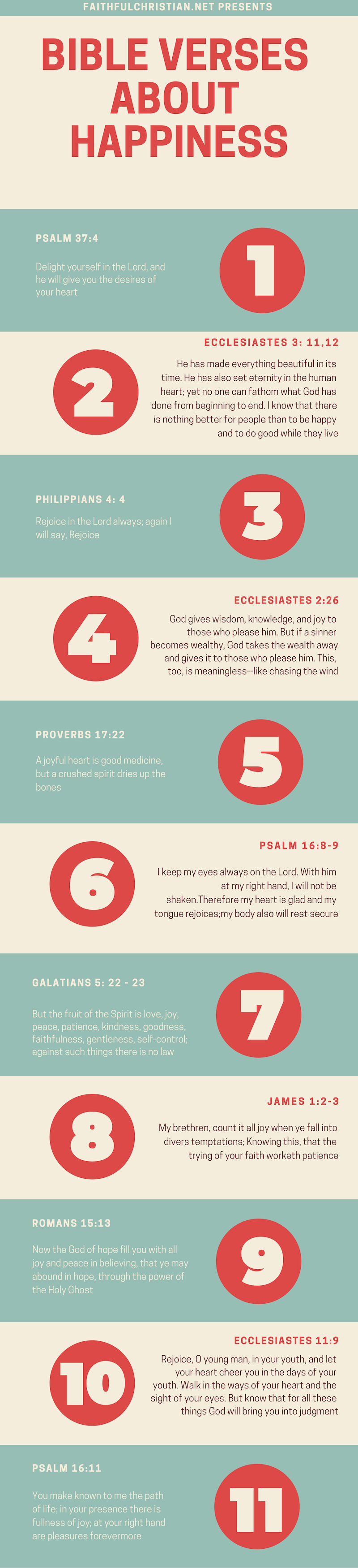 10 Bible Verses About Happiness & Joy - The Faithful Christian