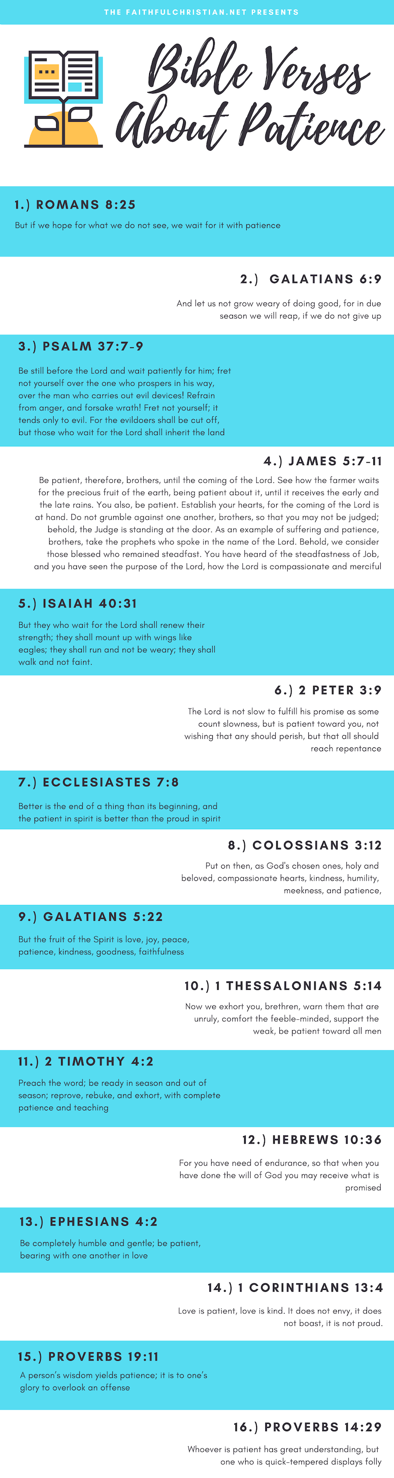 Bible verses about patience in relationships infographics