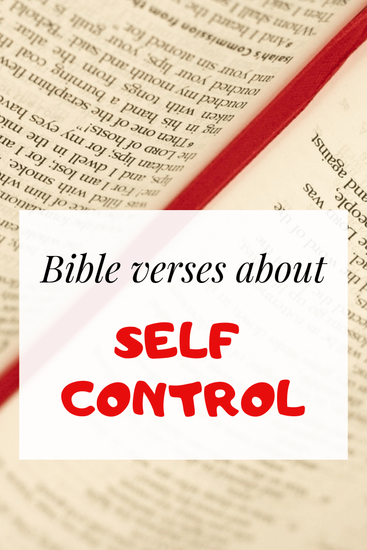 Bible verses about self-control