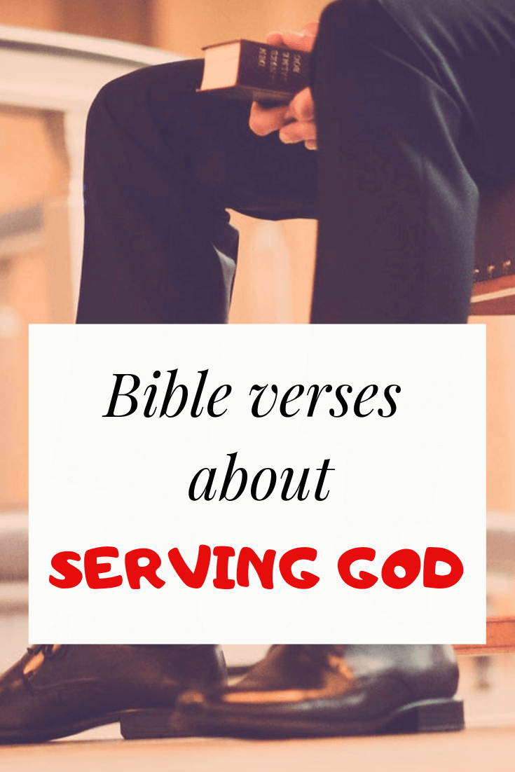 Bible verses about serving Jesus