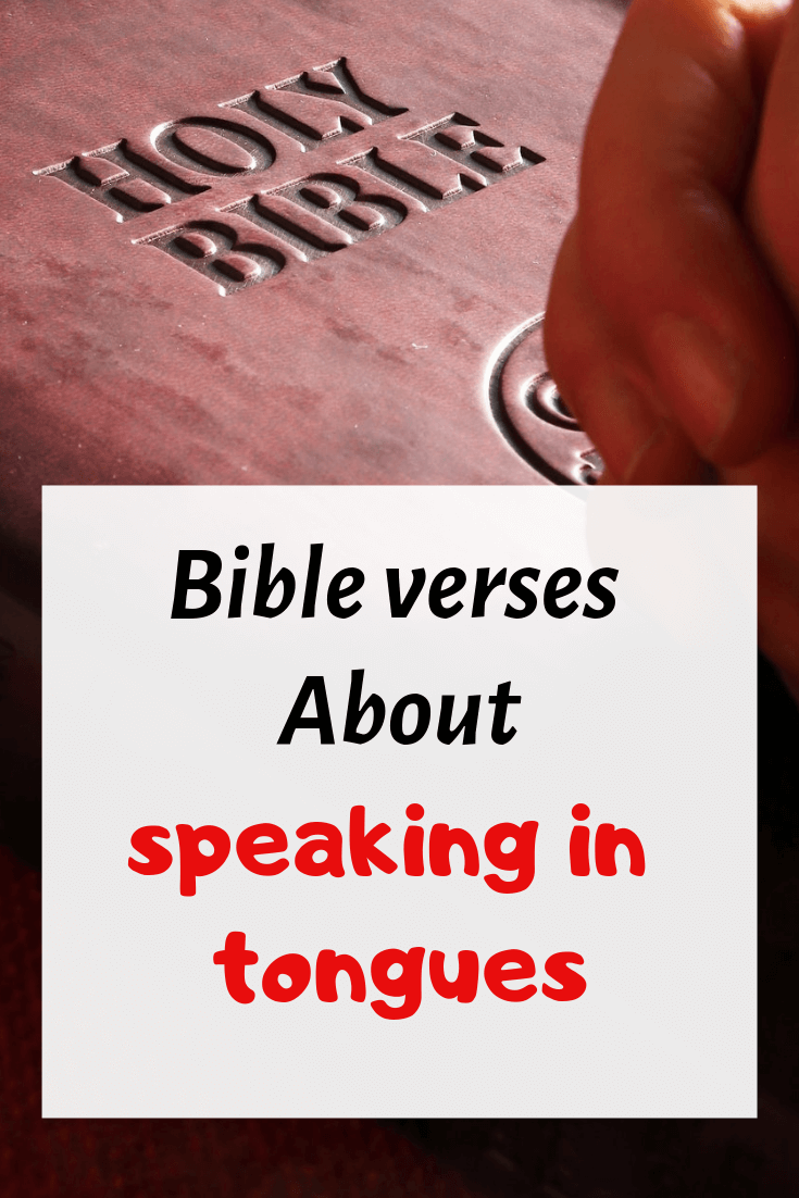 Speaking in tongues bible verses