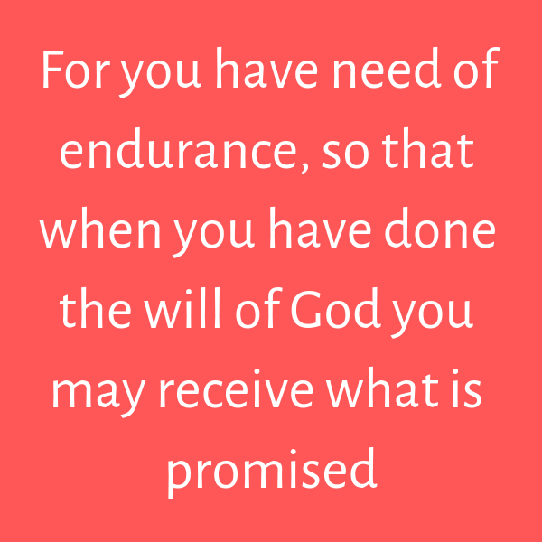endurance and perseverance