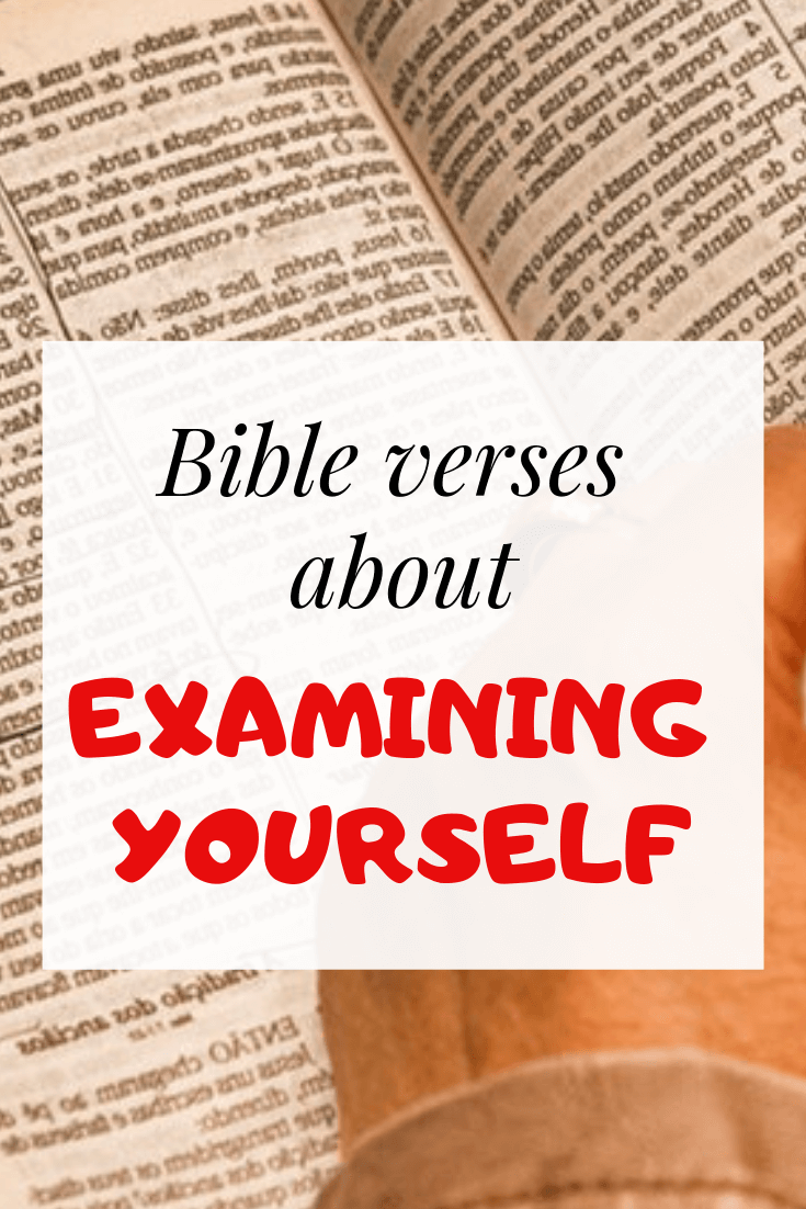 examine yourself bible verses