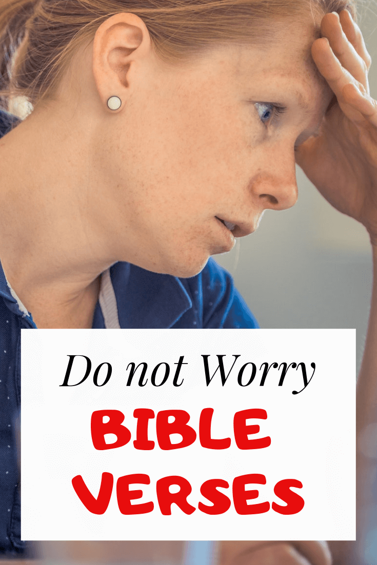 Do not worry about tomorrow bible verse