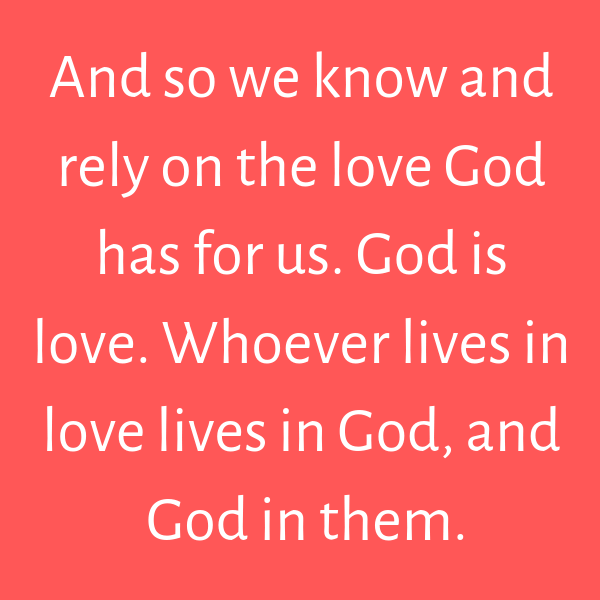 God's unconditional love toward us
