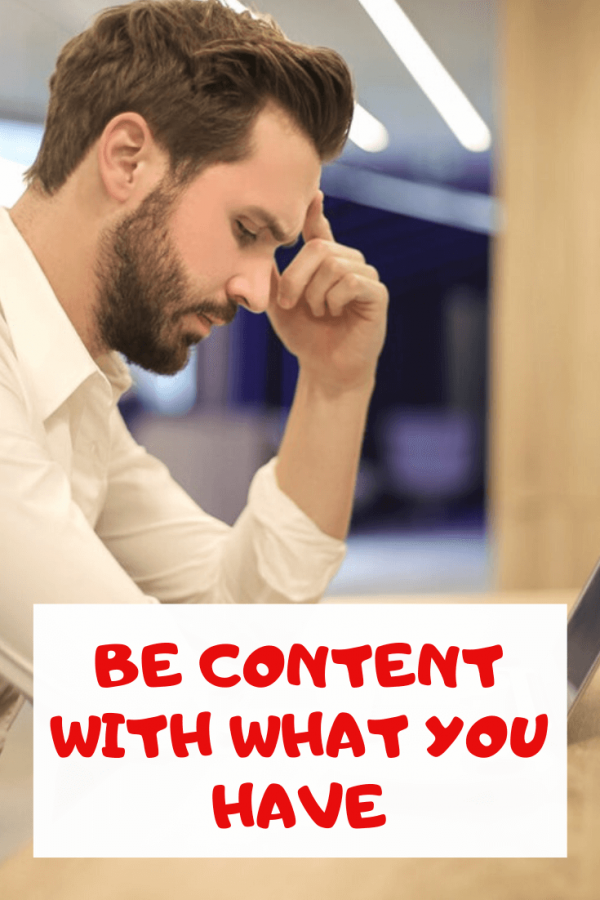 Be Content With What You Have bible verse