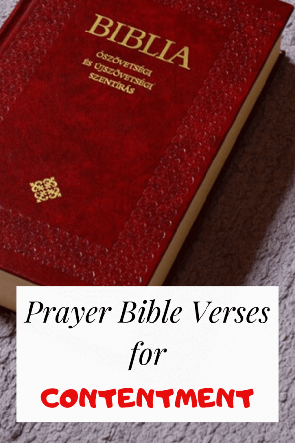 Prayer Bible verses for contentment