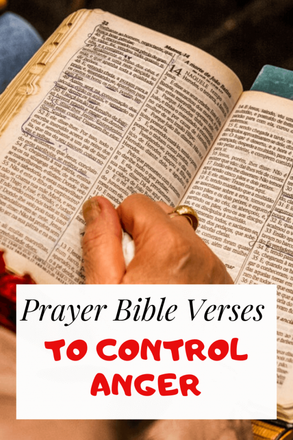 Prayer Bible verses to control anger