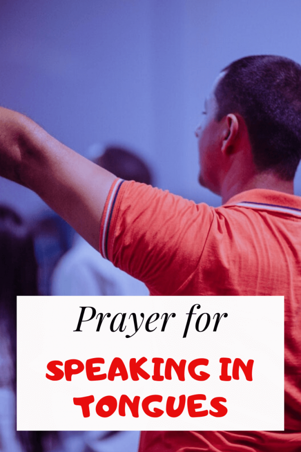 Prayer for speaking in tongues