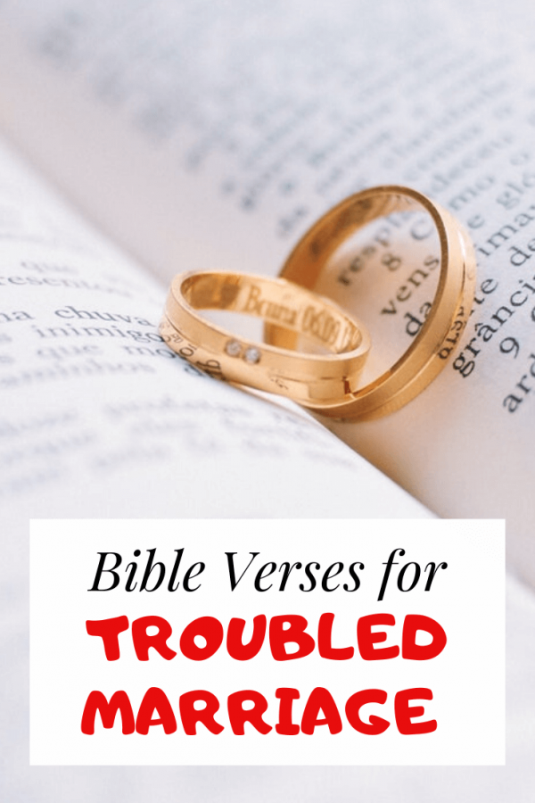 Scriptures for a troubled marriage