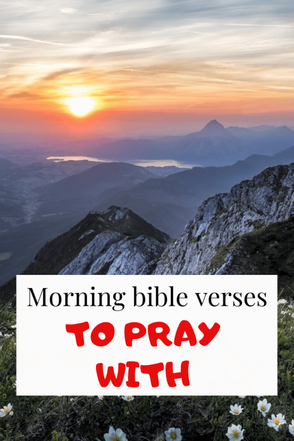 Morning bible verses to pray with
