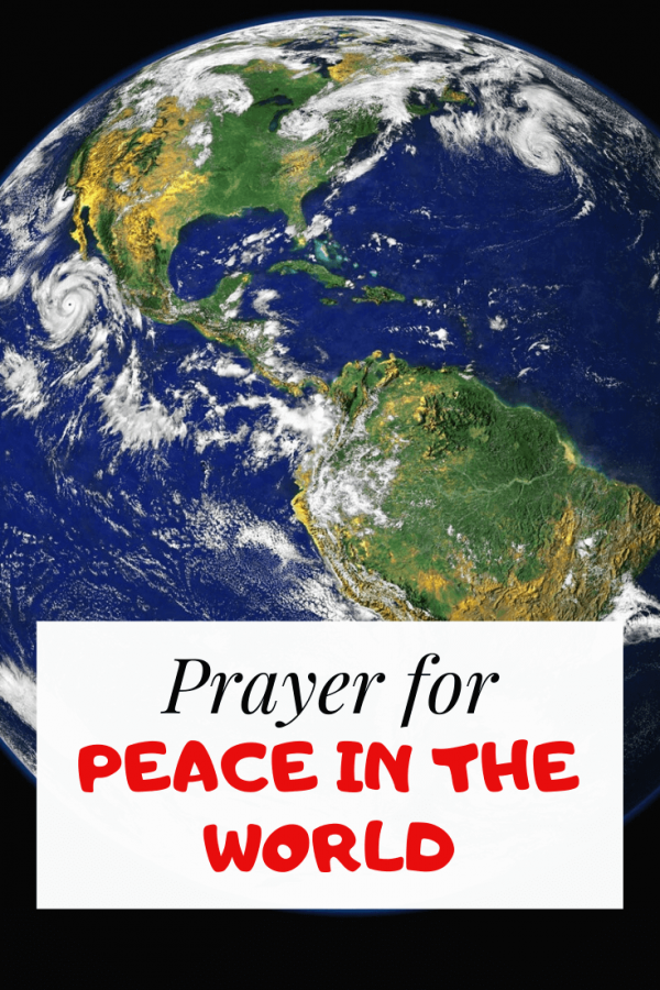 Prayer for peace in the troubled world