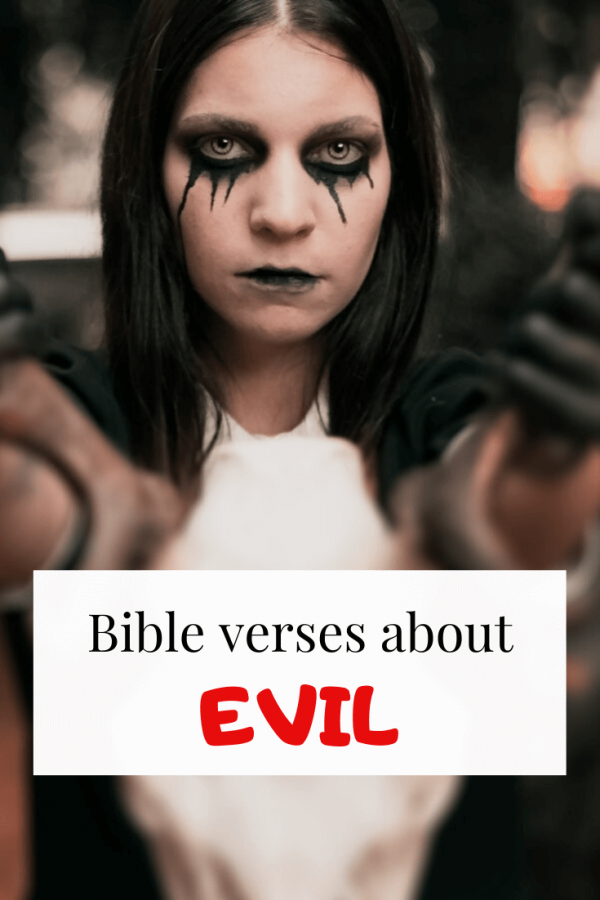 Bible verses about evil