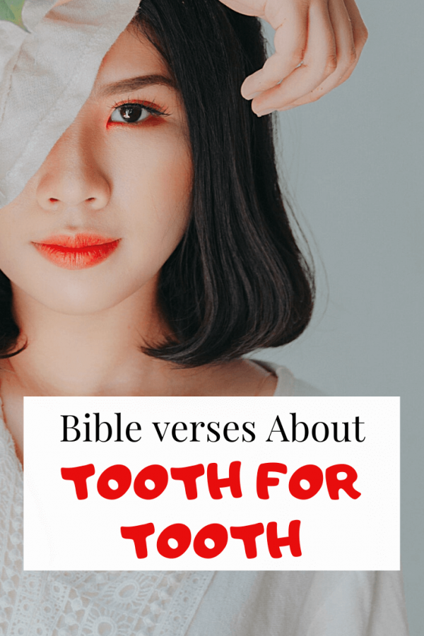 scriptures about tooth for tooth