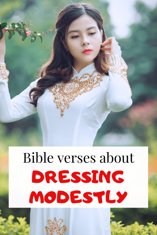 Bible verses about dressing modestly